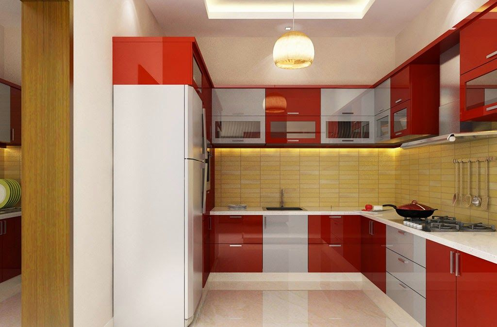Creative indian modular kitchen design l shape on for Kitchen cabinets india