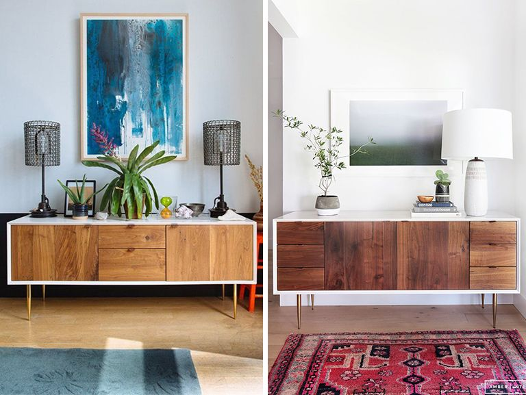 Modern Credenza Ikea : Ikea mid century modern credenza hack u2013 our ugly house living