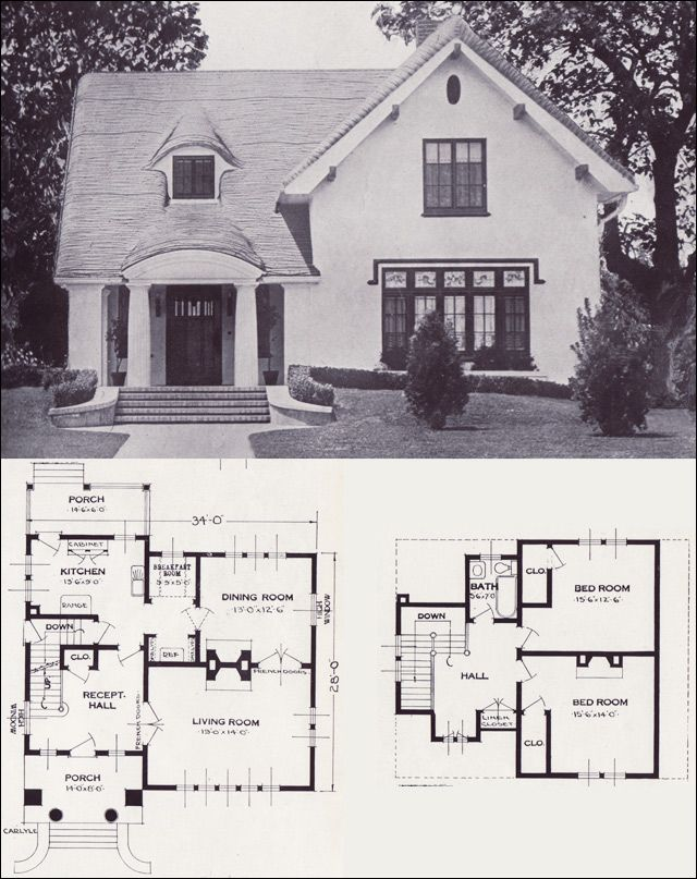 The Carlyle Storybook Revival Vintage House Plans of the 1920s