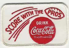 Coca-Cola VINTAGE   SCORE WITH THE PROS PATCH.  NEVER USED  MINT