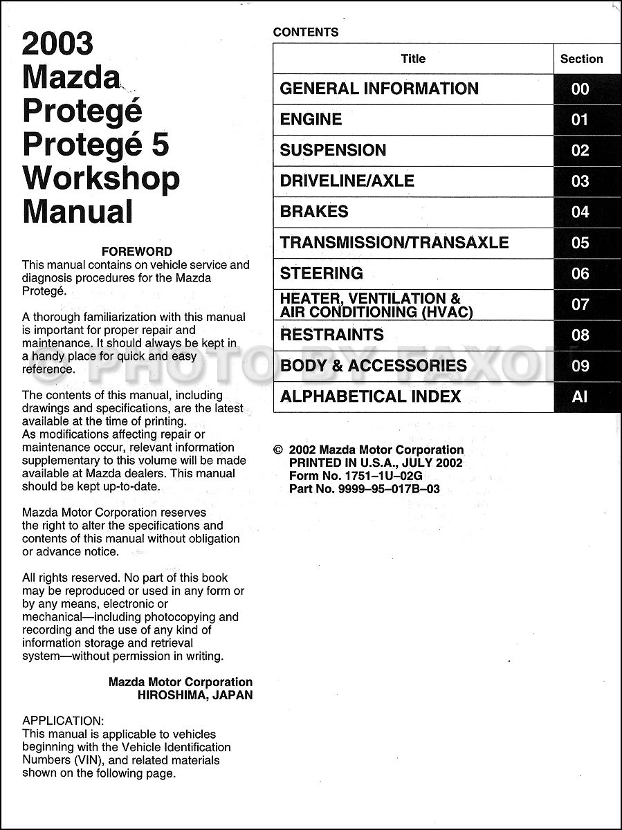 medium resolution of 2003 mazda protege 5 engine compartment wiring schematic 2003 mazda protege stereo wiring diagram 2003 mazda