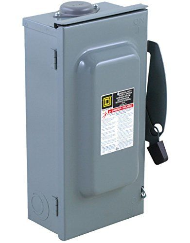 Square D By Schneider Electric D323nrb 100amp 240volt 3pole Fusible Outdoor General Duty Safety Switch By Square D By Schneid Safety Switch Electricity Switch
