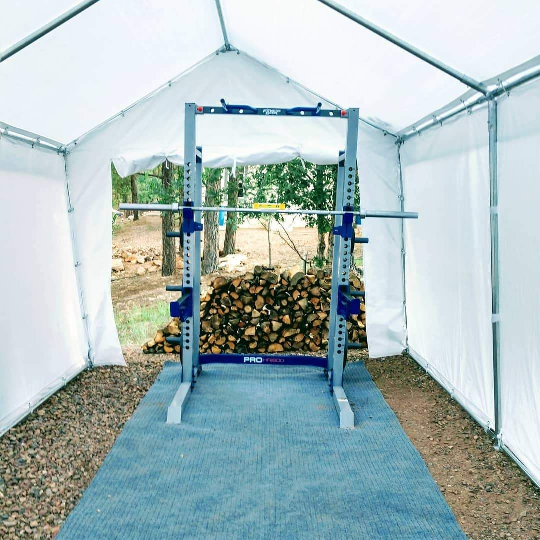 How a Quictent Carport a Temporary Gym in 2020