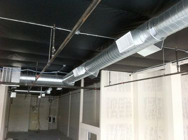 Exposed Spiral Duct Pipe Air Zone H V A C Heat And