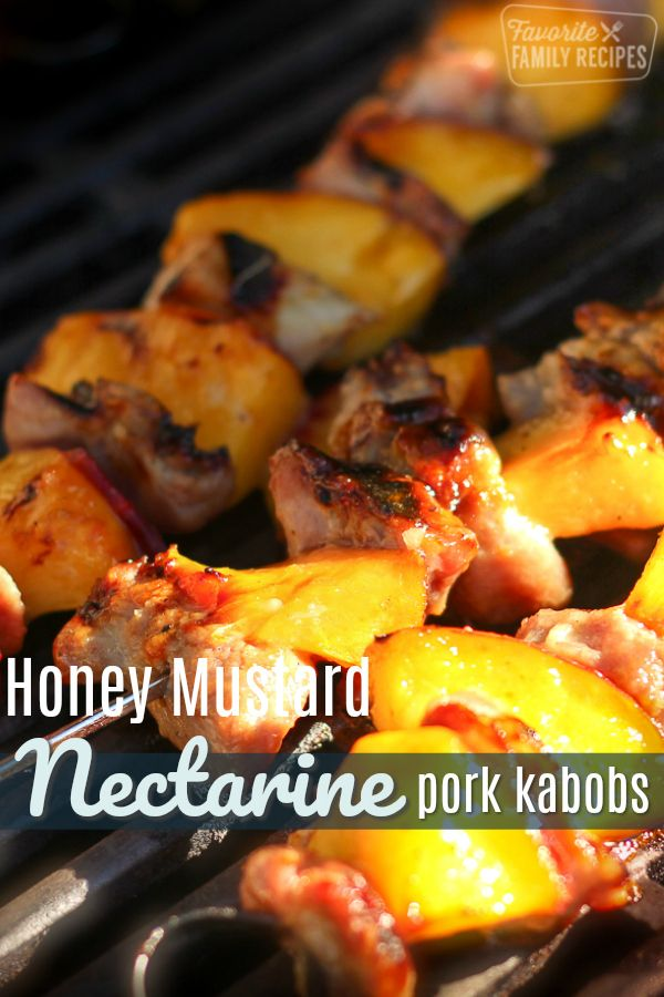 Photo of Nectarine Pork Shish Kabobs