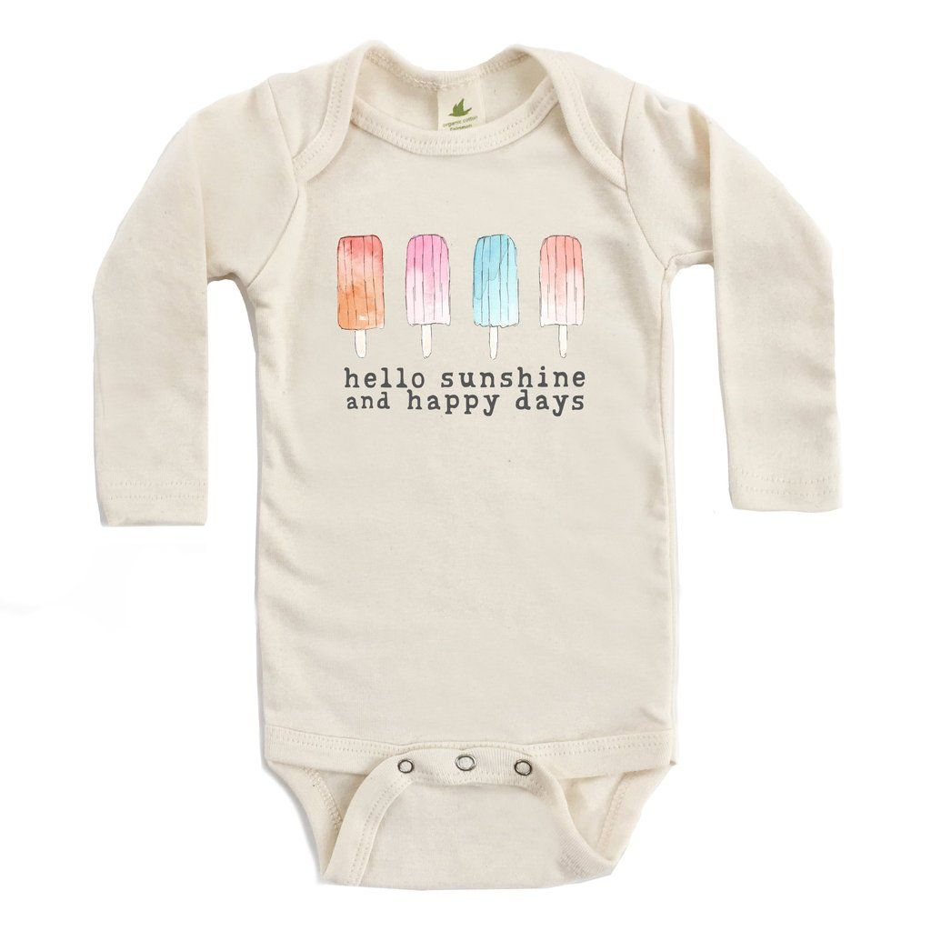 Happy days organic unbleached snappie long sleeve