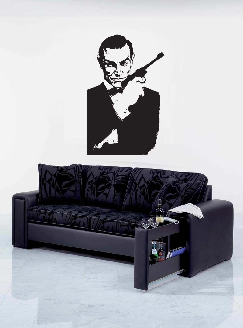 James bond wall graphic wall sticker wall decal celebrity wall james bond wall graphic wall sticker wall decal amipublicfo Image collections