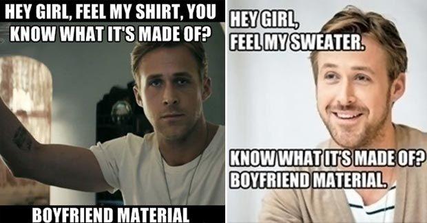 Boyfriendmaterial Hey Girl Ryan Gosling Hey Girl Boyfriend Material