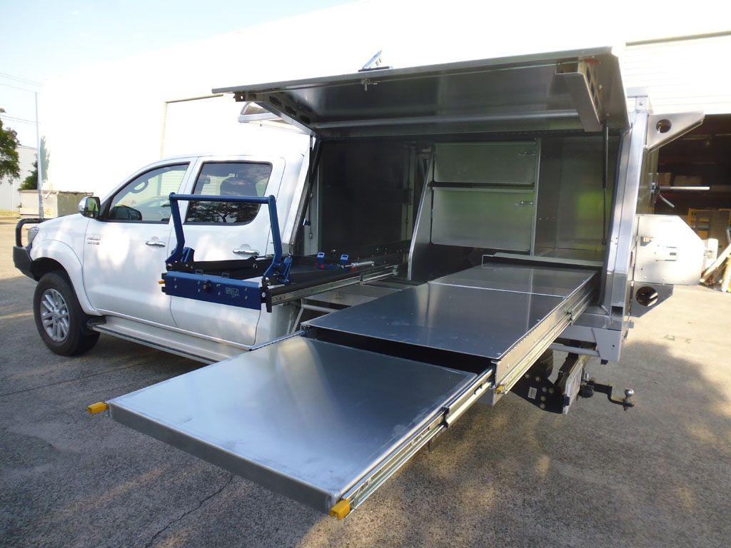 Custom Made Drawers 4WD Kitchen System Under Tray Ute