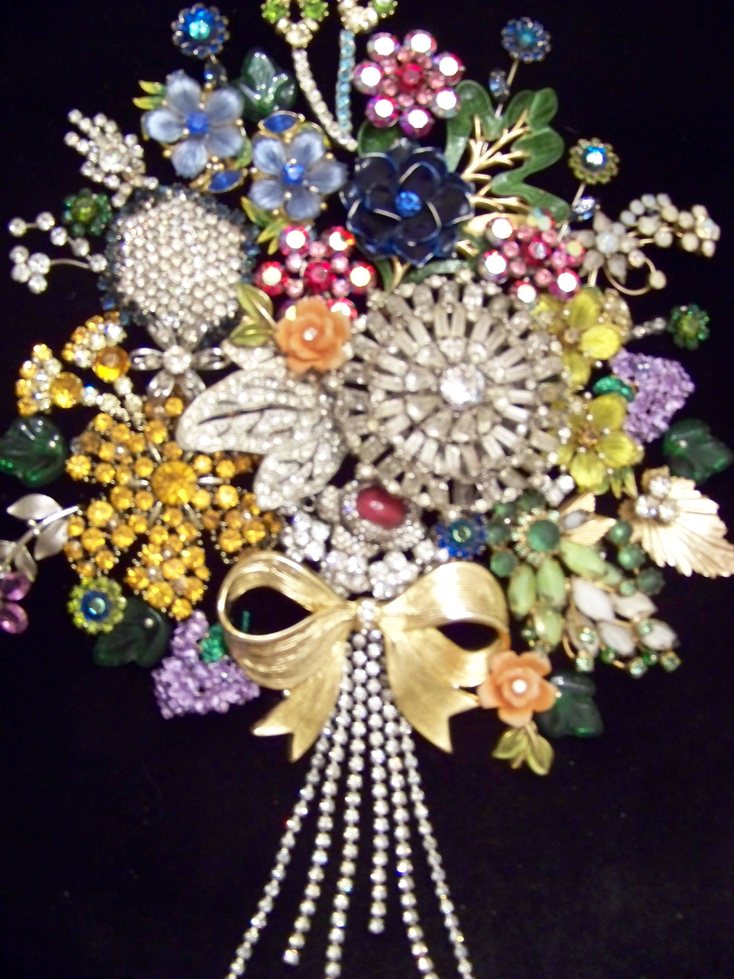 My Rhinestone And Junk Jewelry Bouquet To Be Framed