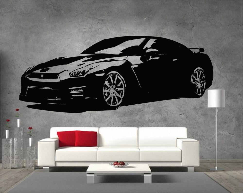 Nissan Gtr Super Car Removable Vinyl Sticker Wall Art Eskiz [ 793 x 1000 Pixel ]
