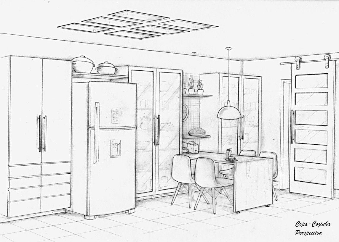 Copa Cozinha Perspectiva 1 Projeto Ana Lucia Nunes Com Imagens
