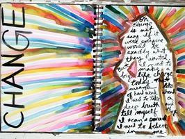 Art Journaling with Koi Watercolors