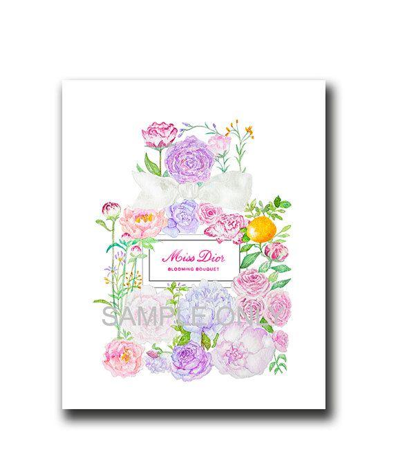 Floral poster | Etsy