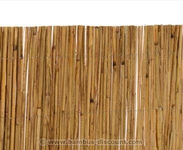 Bambus Discount 120 x 600cm schilfrohrmatte als günstigen sichtschutz bestellen bei