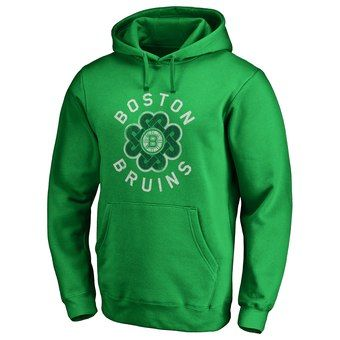 Men s Boston Bruins Fanatics Branded Kelly Green St. Patrick s Day Luck  Tradition Pullover Hoodie e7ad2080f