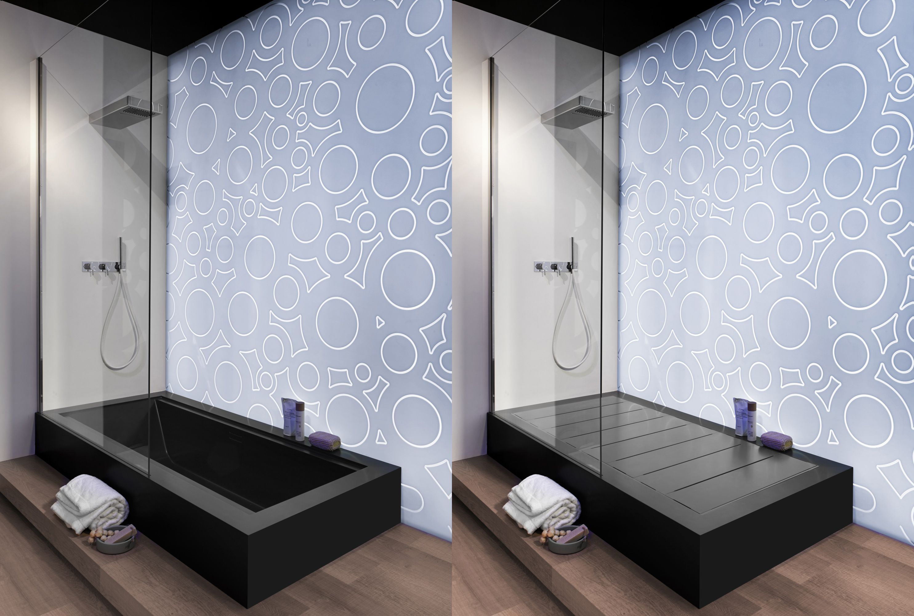 Clever solution by Rexa for a monolithic shower tray that converts ...