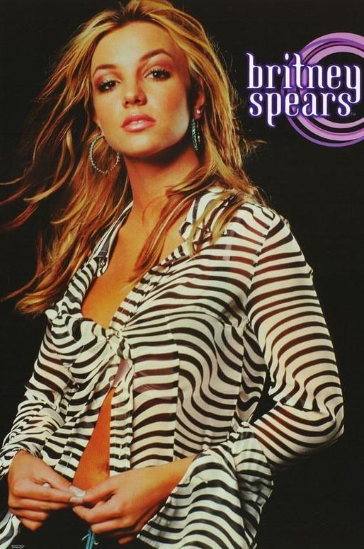Britney Spears Zebra Top 2000 Rare Original Music Poster