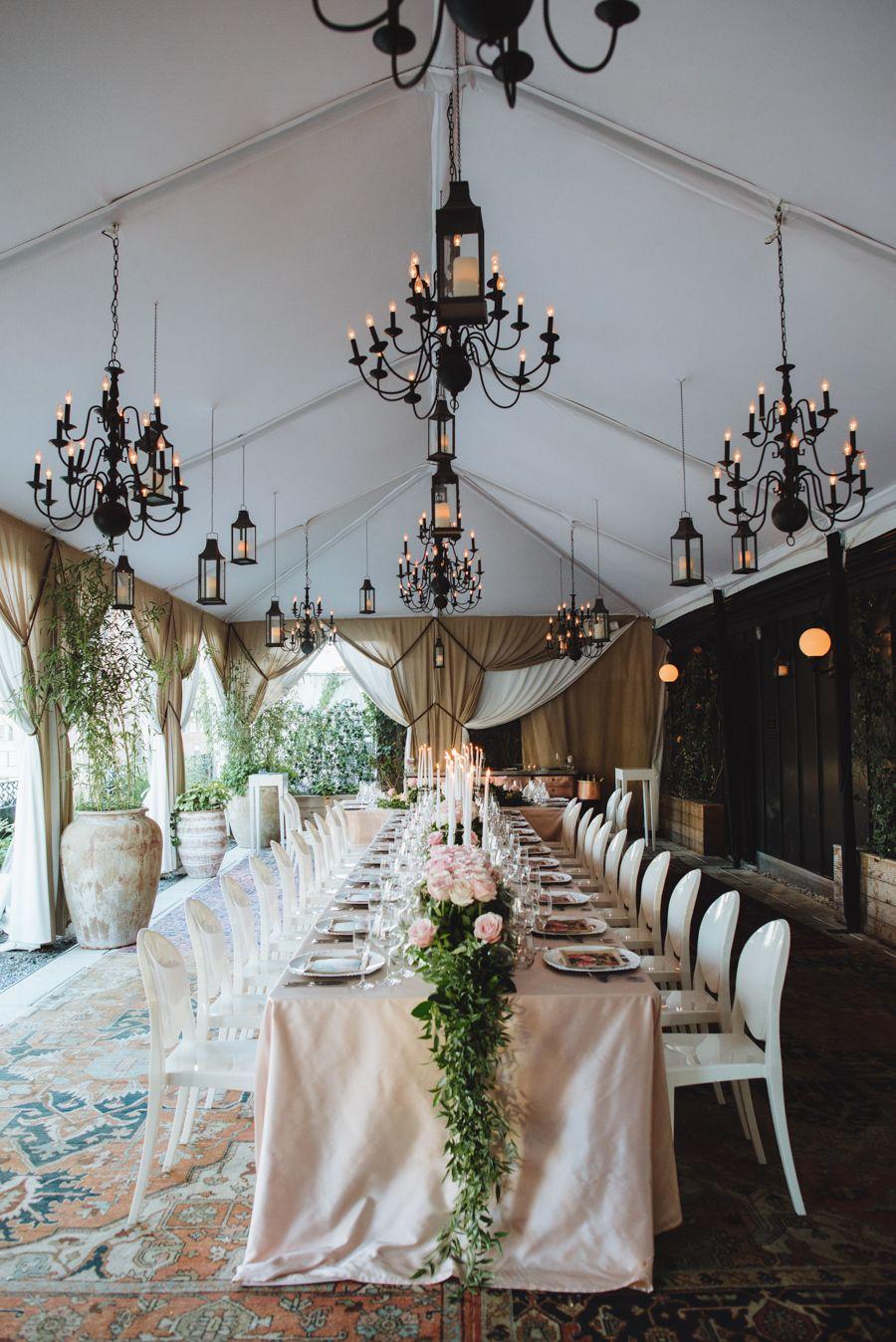 Intimate Secret Garden Rooftop Venue NYC Wedding