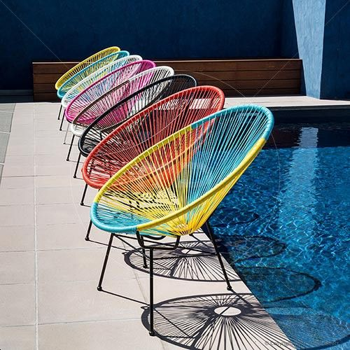 Acapulco Chair Replica  Yellow  Buy Acapulco Chairs For