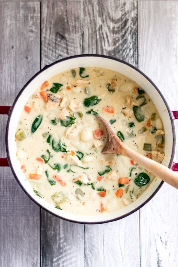 Chicken Gnocchi Soup Chicken Gnocchi Soup - The ultimate cold-weather comfort food! Tender carrots, soft pillowy gnocchi, seasoned chicken, and the most creamy, delicious base. Make it on the stovetop or in the crock pot! food |