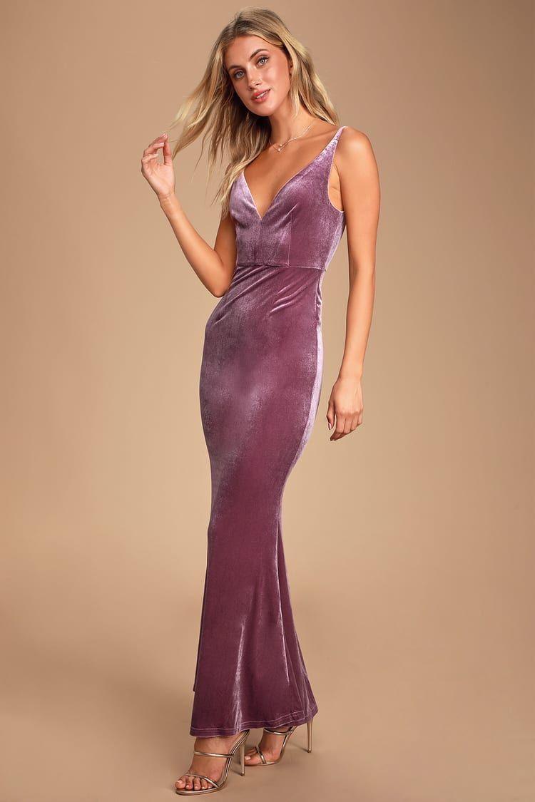 Mauve Purple Velvet Dress Velvet Bridesmaid Dresses Dresses Stretch Velvet Dress [ 1125 x 750 Pixel ]