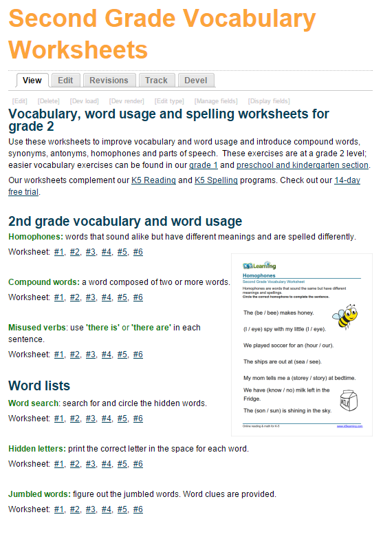 free-vocabulary-worksheets-grade-2 | Vocabulary worksheets ...
