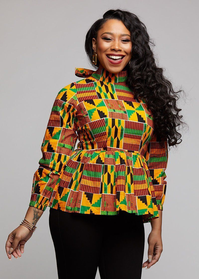 African Clothing for Women African Women Blouse African Womens Clothing African Print Top Ankara Top African Clothing African Top