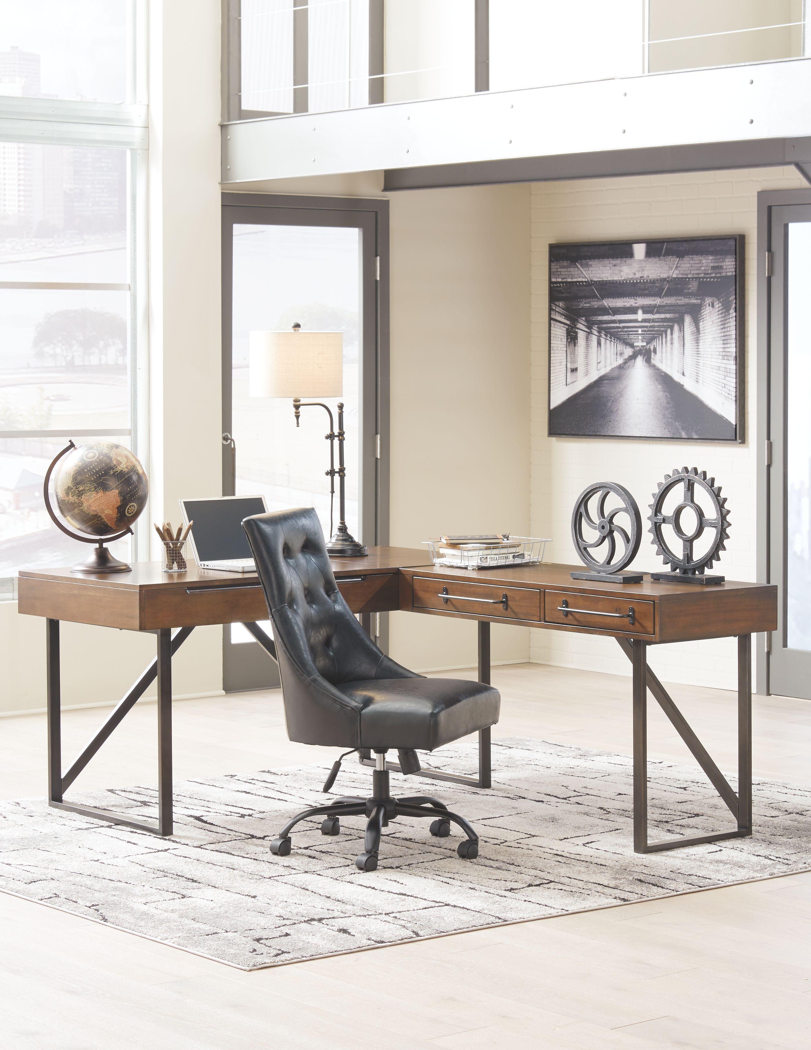 Alymere Home Office Desk Ashley Furniture Home Furniture Small Office Furniture