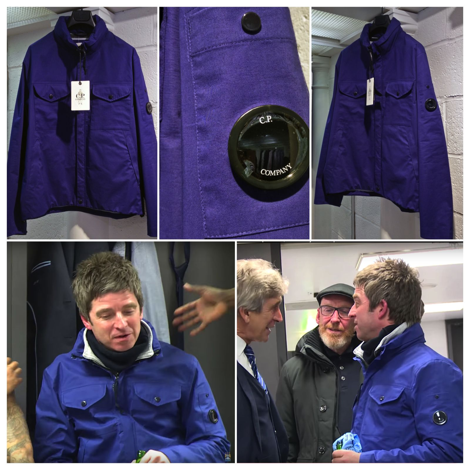 f5f4d076fc Get your C.P. COMPANY Jacket as worn by Oasis frontman Noel Gallagher at  the Man City