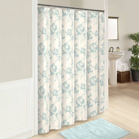 Marble Hill Bonita Shower Curtain Blue