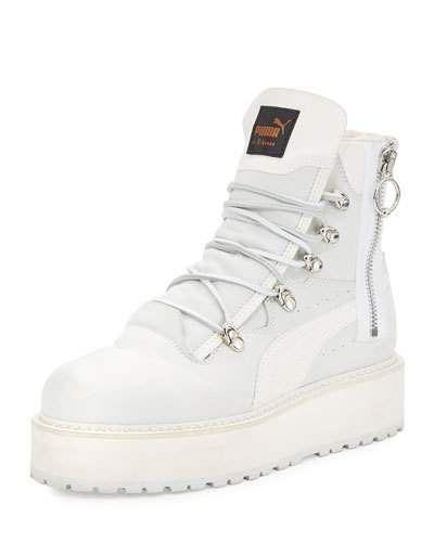 X3AHY Fenty Puma by Rihanna Leather Platform Sneaker Boot eb77f79df