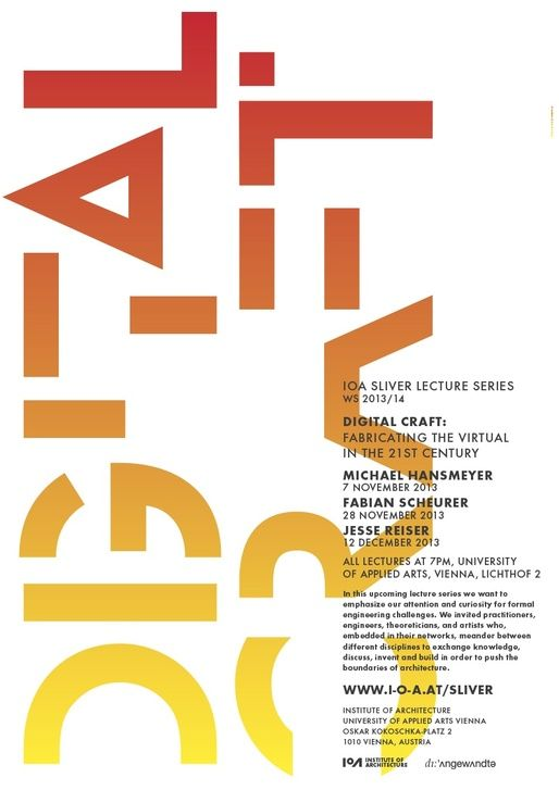 Get Lectured University Of Applied Arts Vienna Fall 13 Poster Layout Typography Graphic Design Inspiration