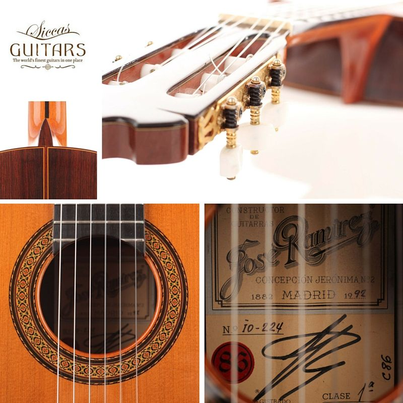 José Ramirez 1992 Siccas Guitars The World S Finest Guitars In One Place Notas Musicales De Guitarra Notas Musicales Guitarras