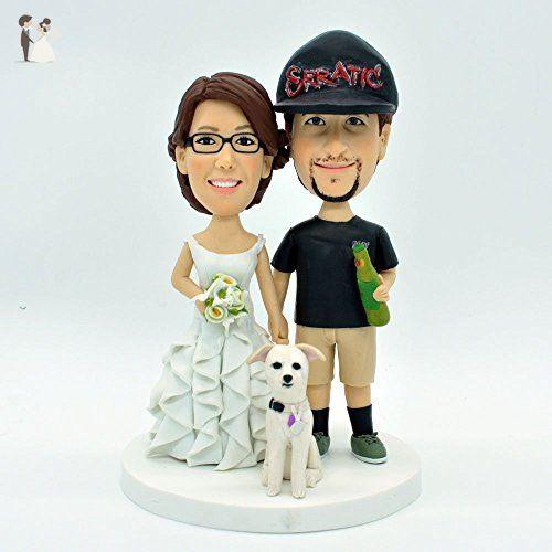 Wedding Cake Topper Custom Personalized Polymer Clay Figurines ...
