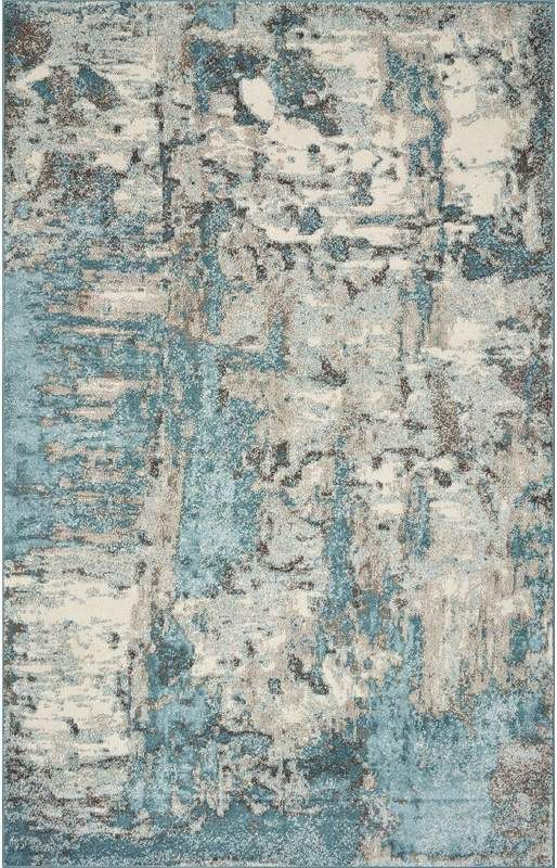 Wrought Studio Strouth Teal Gray Area Rug In 2019 Teal