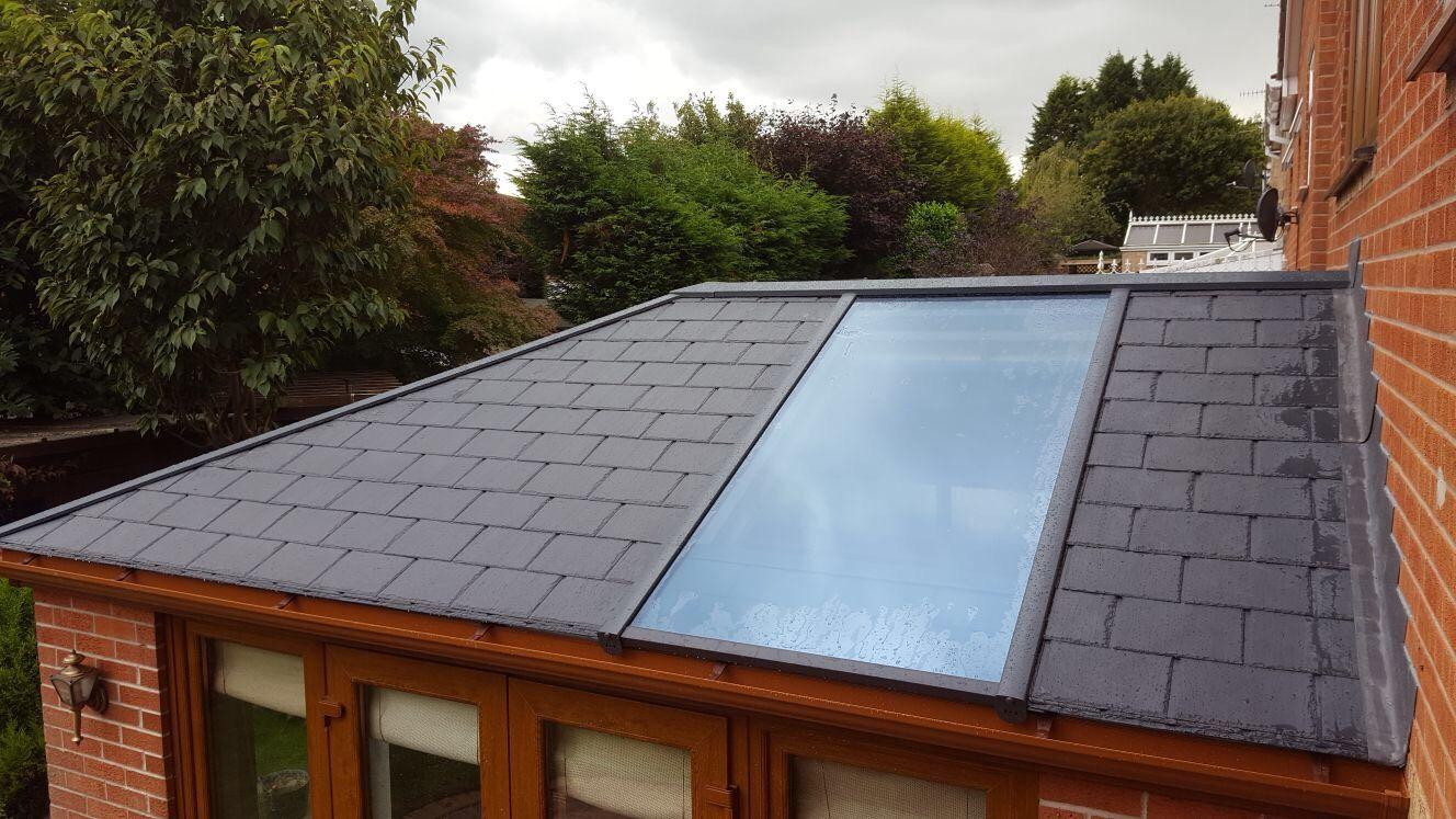 Tiled Conservatory Roof Tiled conservatory roof