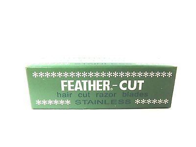 Feather CUT stainless x 12 pcs blade hair styling razor thinning shears JAPAN