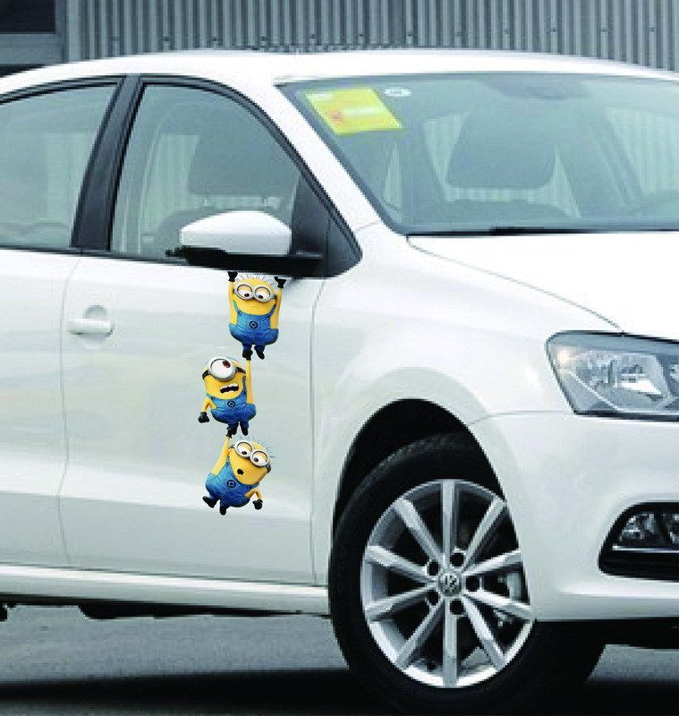 Despicable Me Minion Brothers Hanging M Reflective Car Vinyl - Vinyl stickers on cars
