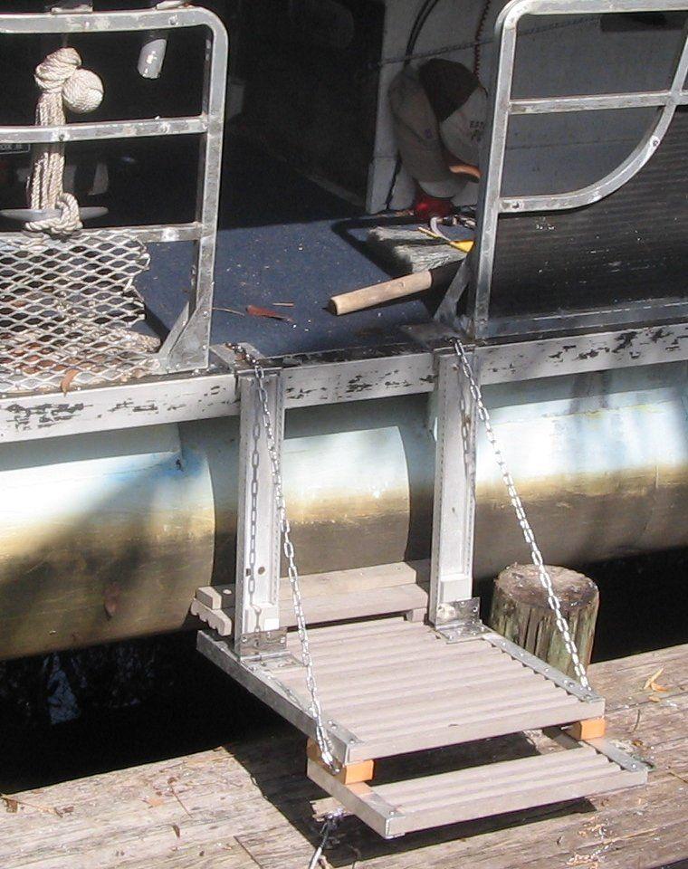 dog ladder for pontoon boat - Google Search | Tom | Pontoon boat, Boat, Dog ramp