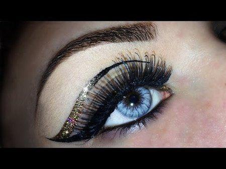 Sexy Glitter Cut Crease Tutorial via #emanuelecastelli #eyemakeup #pretty #howto - bellashoot.com