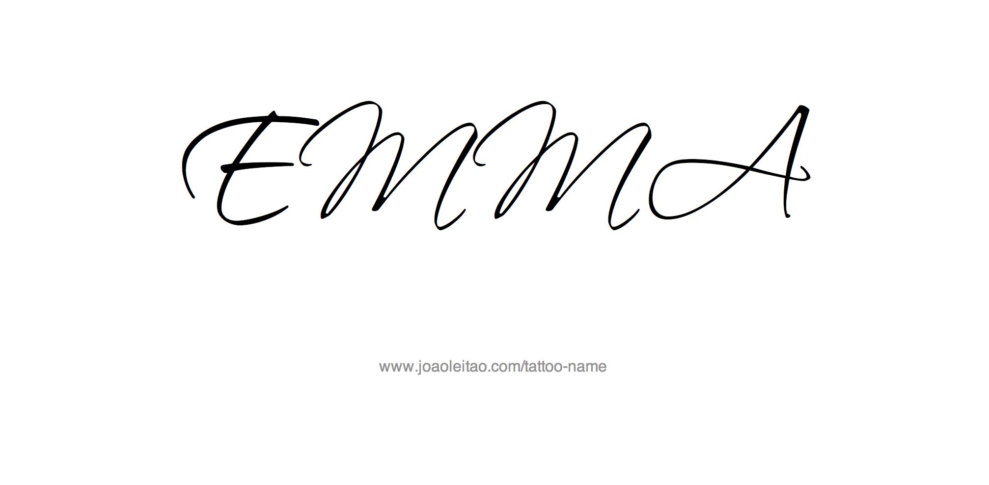 Tattoo name writing designs emma name tattoo designs  abbies room  pinterest  tattoos tattoo