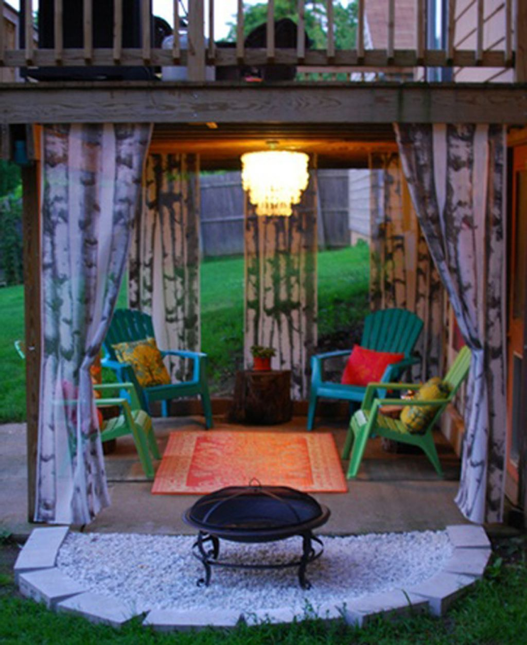 attractive under deck ideas for extravagant space chic and boho
