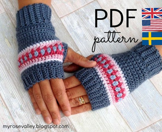 Crochet Wrist Warmers Pattern Nordic Wrist Warmers Crochet Fingerless Gloves Pattern Crochet Wrist Warmers Fingerless Gloves Crochet Pattern Wrist Warmers