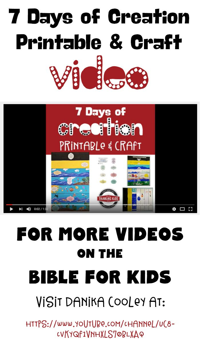 Check Out This On A Cool 7 Days Of Creation Printable And Craft