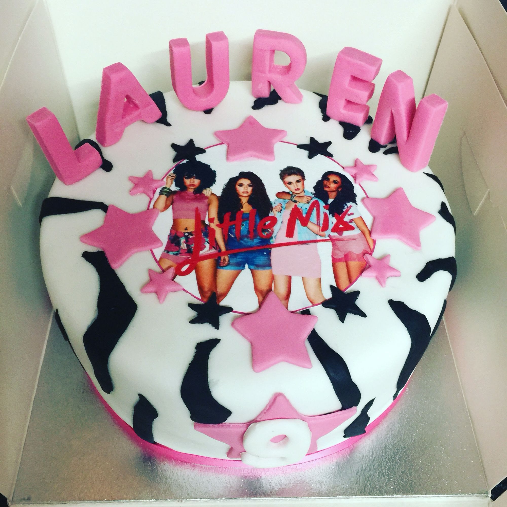 Little Mix Zebra Print Cake