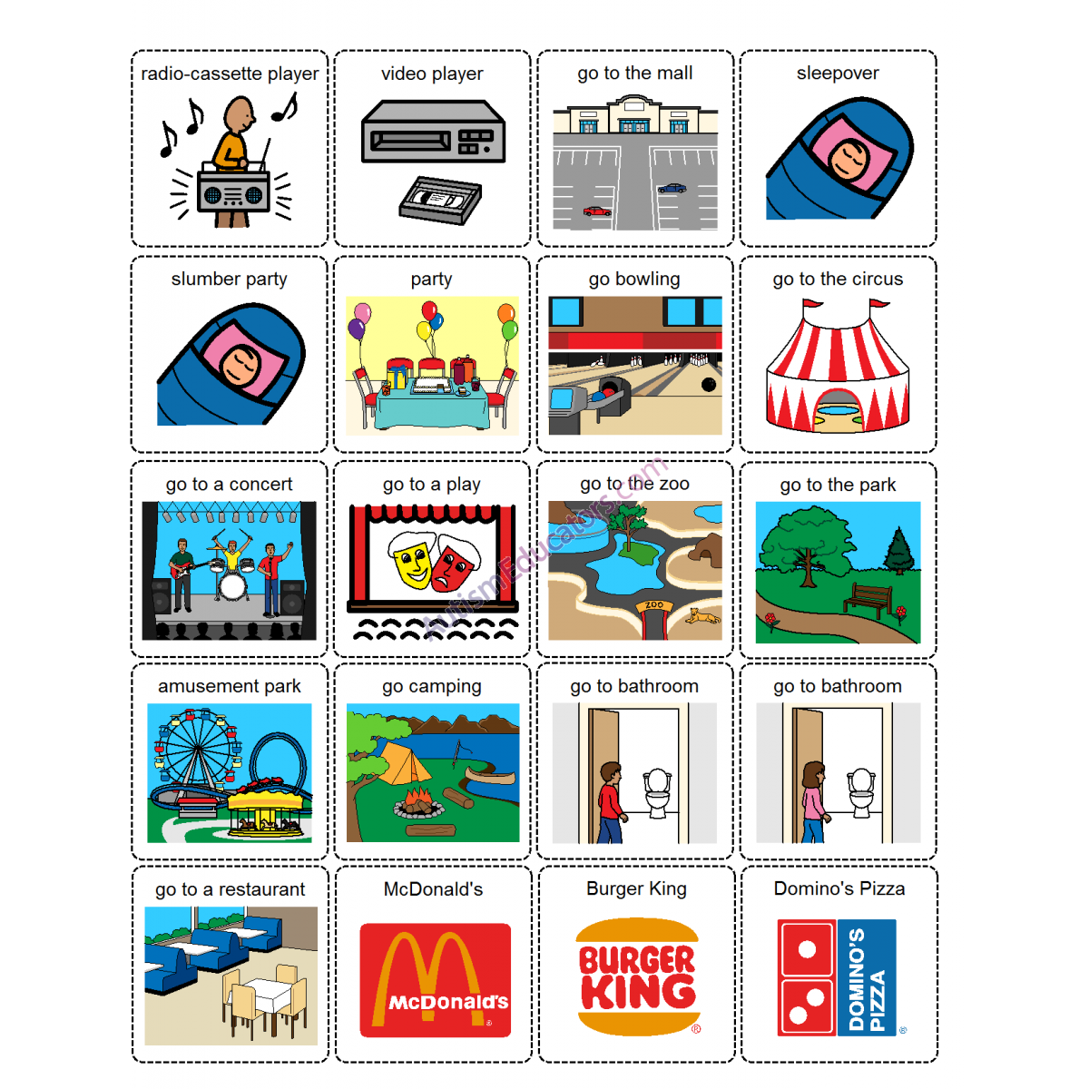 First Then Board With Visual Word Picture Cards Free