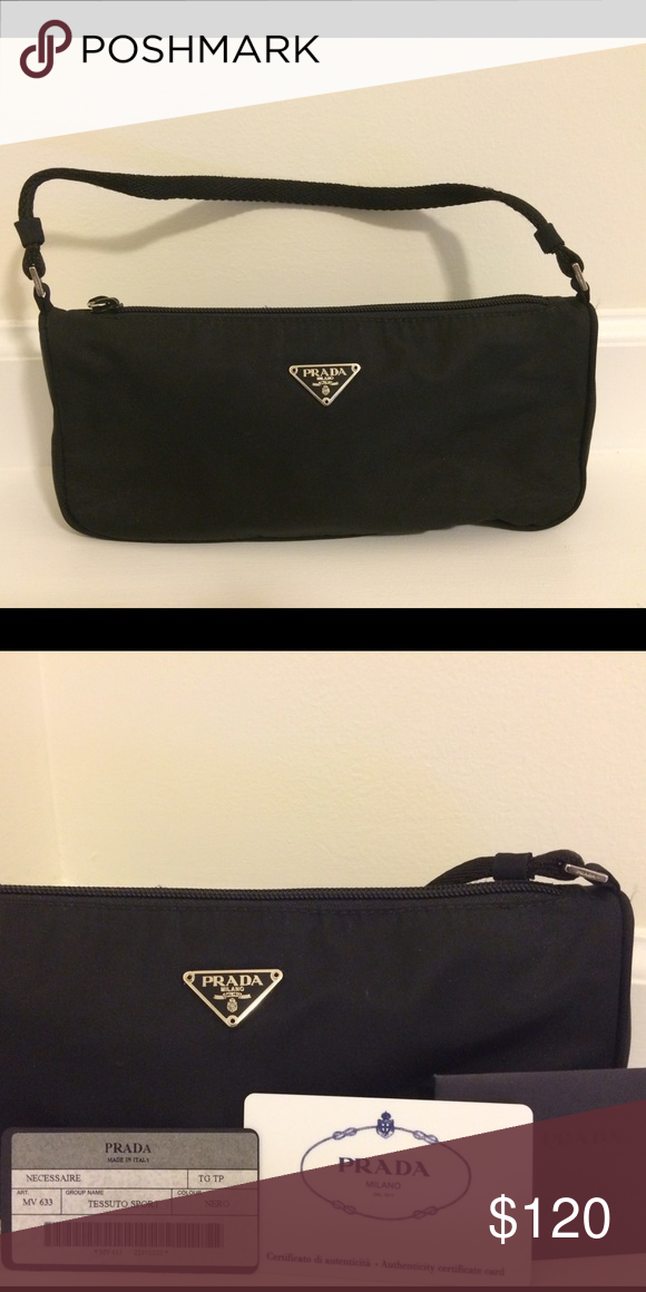 9758f13b7b4d3c Authentic Prada Black Tessuto Sport Nylon Bag This authentic Prada Tessuto  Sport Nylon Bag is pre-owned in great condition! It comes with certificate  of ...