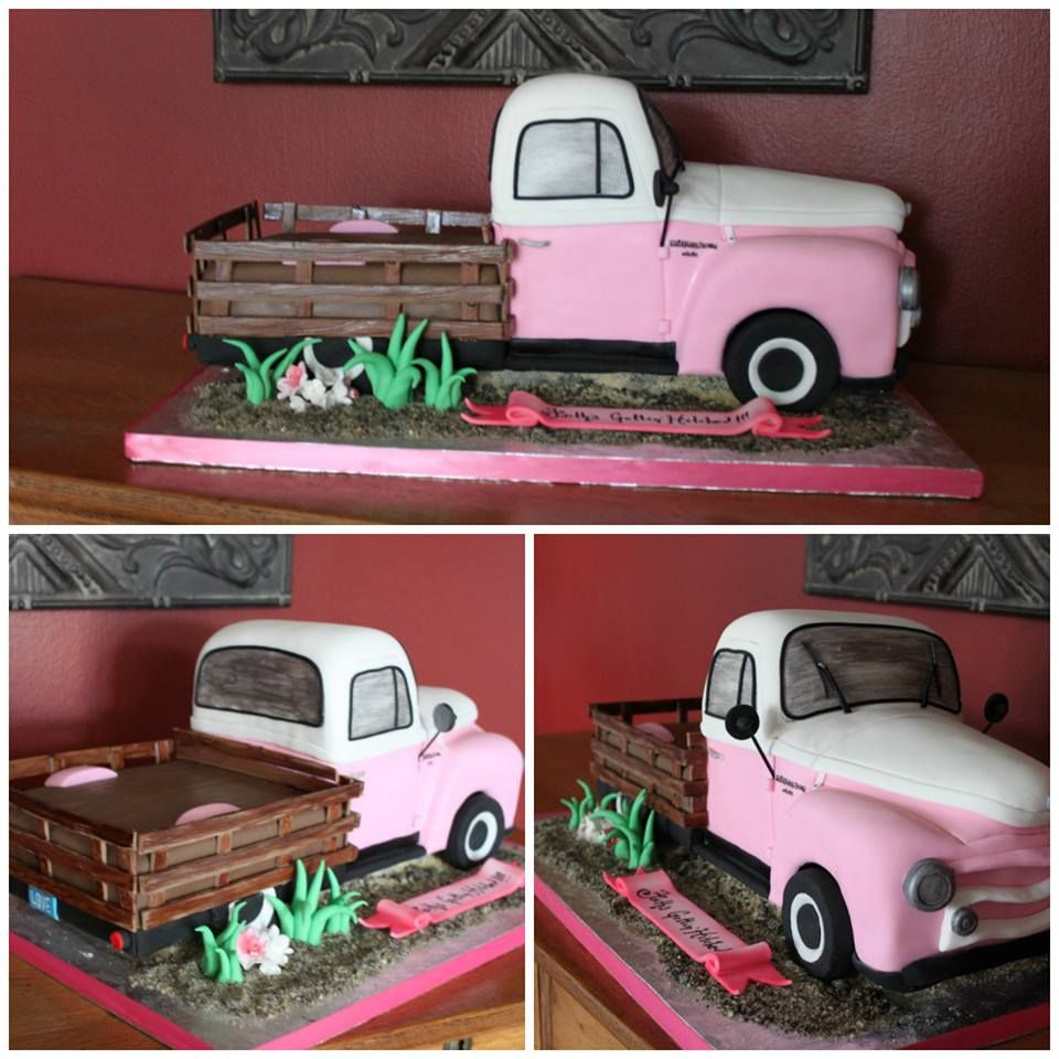 Old Pick Up Truck Cake With Images Truck Cakes Dad Cake