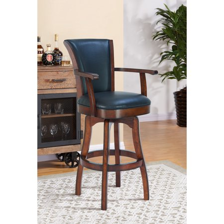Raleigh Arm 26 Inch Counter Height Swivelbarstool In Rustic